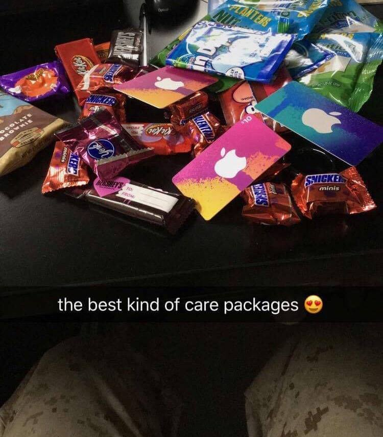 Valentine's Day Pack sent to our Marine in Turkey!
